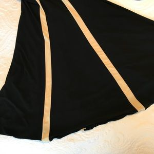 Faviana Dresses - Faviana Black and Tan Gown